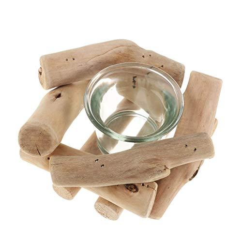Fliyeong Natürliches Treibholz Teelicht Kerzenhalter Handwerk Ornament Hochzeit Lieferungen langlebig und nützlich