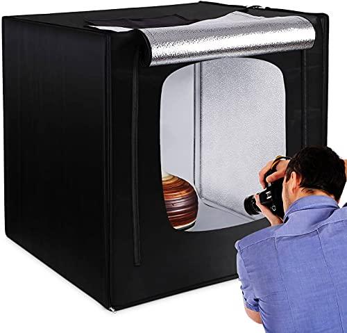 Photo Studio Box 80x80cm, Boîte à Lumière 5500K...