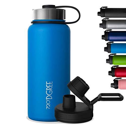 """720°DGREE Bottiglia Termica """"noLimit"""" 1200ml - Senza-BPA, Acciaio Inox, Doppia Parete, Prova di..."""
