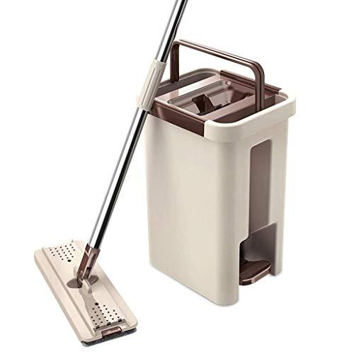 YIIY Komplettes Reinigungssystem für Mopps und Eimer zum Waschen und Trocknen + 6 KOSTENLOSE zusätzliche Moppköpfe NACHFÜLLEN REVOLUTIONÄRER Mopp mit Arbeitserleichterung Für ALLE Böden, die von Priva