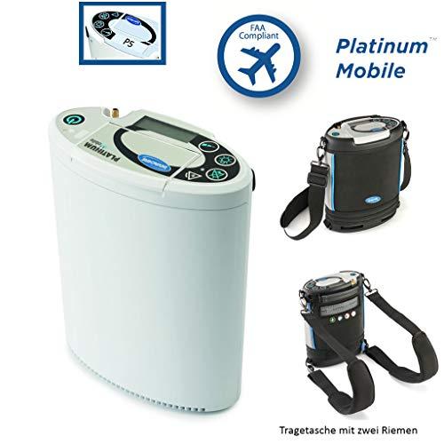 Invacare Platinum Mobile O2, der mobile Sauerstoff-Konzentrator, medizinisches O2-Sauerstoffgerät tragbar, mit 1 x Lithium-Ionen Akku