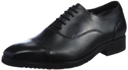 [ワールドマーチ] ビジネスシューズ 革靴 天然皮革 反発弾性 ブラック 28.5 cm 3E