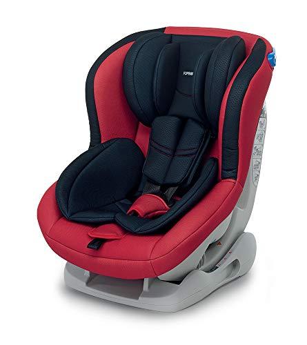 Foppapedretti Mydrive Seggiolino Auto, Rosso, Gruppo 0/1 (0-18kg), per Bambini dalla Nascita Fino a 4 Anni Circa