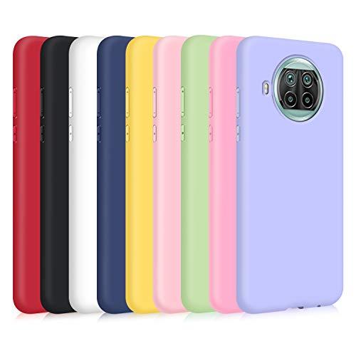 9X Cover per Xiaomi Mi 10T Lite, Custodia Morbido Silicone Ultra-Sottile TPU Tinta Unita Anti-Graffio Paraurti Protettiva Flessibile Gomma Case - 9 Colori