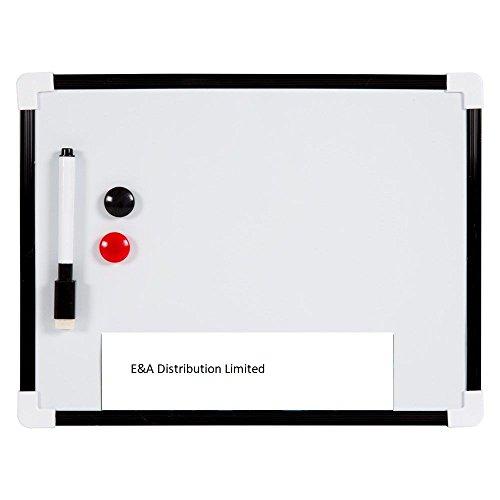 Sifcon Écritoire magnétique effaçable à sec avec marqueur et effaçoir disponible en Blanc, Bleu ou Noir A4