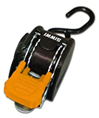 Retractable ratchet tie-down system Each tie-down has a break strength of 1,400-Pound and a safe working load of 466-Pound Features a single S-hook Measures 1-Inch by 72-Inch Set of 2 tie-downs