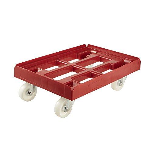 keeeper Transportroller für Transportboxen- und Körbe, Tragkraft bis 300 kg, 61 x 41 x 19 cm, Rolf, Rot