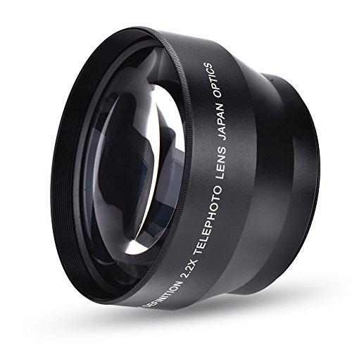 Tangxi Kamera Telekonverter Objektiv, 67mm 2.2X Universal DSLR Kamera Telekonverter Teleoptisches Glasobjektiv für Nikon Sony Canon Minolta
