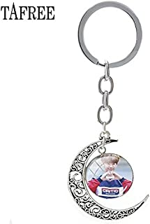 Key Chains - 2018 New Moon Pendant Key Ring NCT 127 K-POP Singer Band Simple Style Keychain Elegant Jewelry for Anniversaries BTS106 - by Mct12-1 PCs