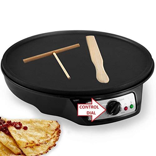 J-JATI Electronic crepe maker with 2 utensil wooden flipper SW603P