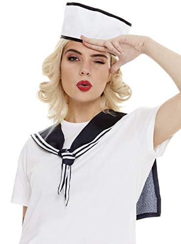 Funidelia   Kit Disfraz de Marinero para Hombre y Mujer Capitn de Barco, Grumete, Marina, Profesiones, Accesorio para Disfraz