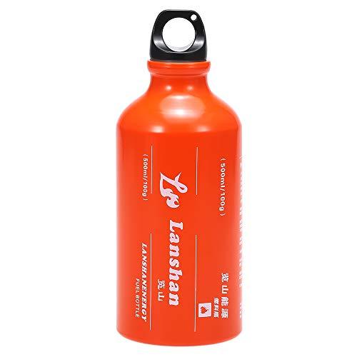 Lepeuxi 500ml Botella de Combustible de Gasolina Gas de Queroseno Tanque de Gas líquido Botella de Almacenamiento de Combustible para Acampar al Aire