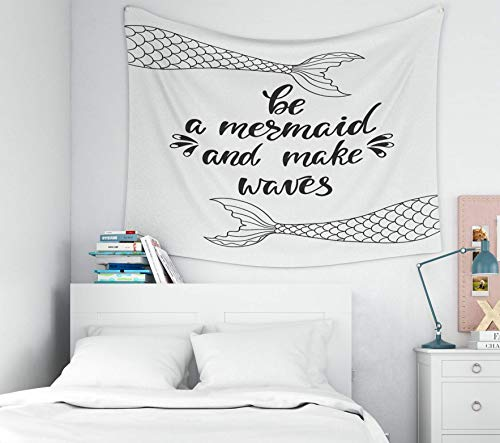 N\A Tapiz de Pared, decoración de Arte para el hogar de Pascua Be Make Waves Cita inspiradora sobre el Verano Frase de caligrafía Moderna con para tapices de Fondo de Dormitorio de Sala de Estar