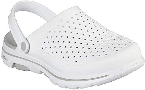 Skechers Zueco Cali Gear para hombre, blanco (Blanco/Gris), 44 EU