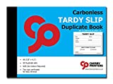 Cherry Easy Removal Tardy Slip Book with Carbonless Copies / 50 (4.1 x 5.8 Inches) Slips Per Book