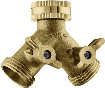 INNAV8 Solid Brass Garden Hose Splitter 2 Way...