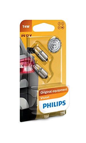 Philips 12929B2 Vision T4W Signallampe - Standlichtlampe, 2er Blister, 4W 12V