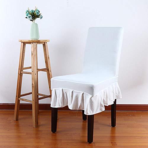 Semi-rok stoelhoes Elastische huisstoelhoes Hotelstoelhoes Bruiloftsbanket Restaurant Eendelige elastische stoelhoes-H_4 stuks