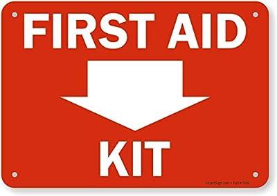 "SmartSign""First Aid Kit"" Down Arrow"