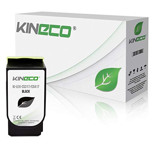 Kineco Toner kompatibel zu Lexmark CS317 für CS 317 DN CS 417 DN CS 517 DE CX 317 DN CX 417 DE CX 517 DE – 71B0010 Schwarz 3.000 Seiten