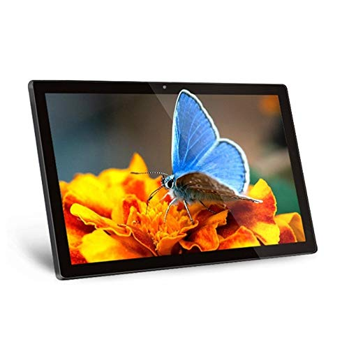 PC todo en uno con pantalla táctil HSD2151T con soporte y VESA de 10x10cm, 2GB + 16GB LCD de 21.5 pulgadas Android 8.1 RK3288 Quad Core hasta 1.8GHz, compatible con OTG, Bluetooth y WiFi, enchufe EU /