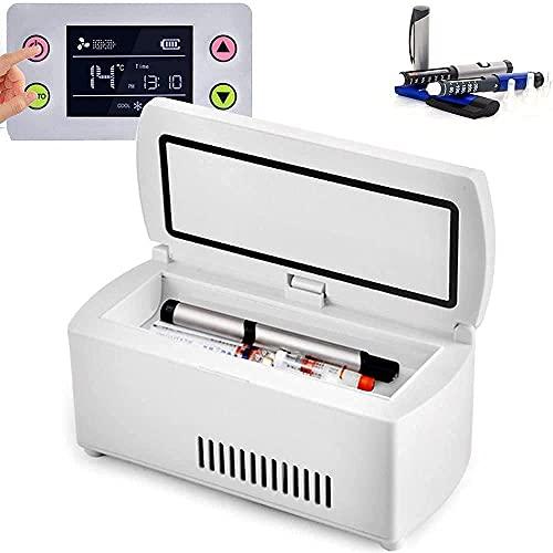 SUNWEII Insulin Kühlbox, Medikamente Kühlschrank, Elektrische Kühlbox für Auto, Reisen, Haus Tragbare Kleiner Insulin-Kühlkoffer Kleiner Kühlschrank Medizin Diabetes-Tasche