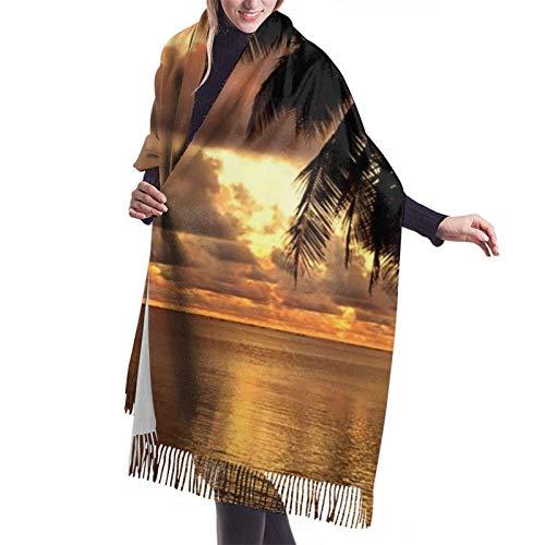 Nature Ocean Sea Hawaii Beach2 Bufanda de mujer Pashmina Chal Abrigo estola para vestido de noche Dama de honor Boda
