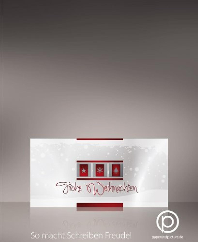 Weihnachtskarten Weisse Weihnacht 100 Stück, problemlos bedruckbar mit allen Druckern, 240g-Karton DIN LANG-Format B00FYU6BQS  | Feine Verarbeitung