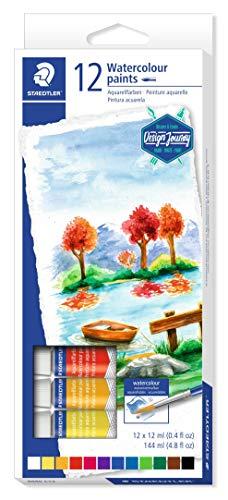 STAEDTLER 8880 C12 Design Journey, Caja con 12 pinturas acuarelas de colores variados
