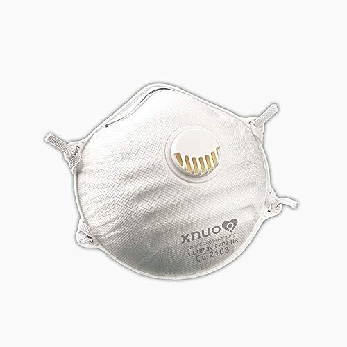 5 Stück FFP3 Premium Atemschutzmasken mit Ausatemventil in luftdichter Verpackung, 5-Schichten Schutz der Atemwege, mit CE Zertifikat NB2163