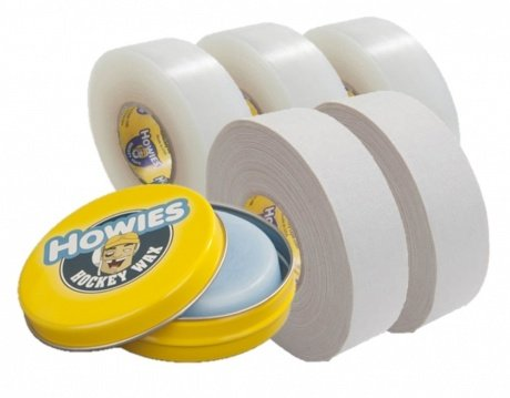2x Schlägertape Profi Cloth 24mm, 3x Shine Tape, 1x Hockey Wachs