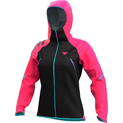 DYNAFIT W Ride 3L Jacket Colorblock-Pink-Schwarz, Damen Windbreaker, Größe L - Farbe Lipstick