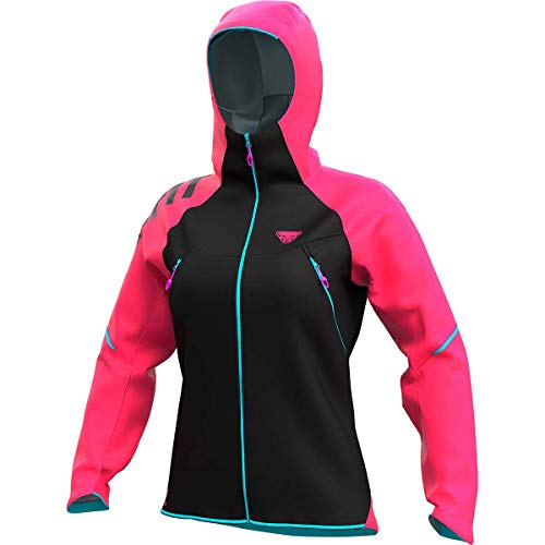 DYNAFIT W Ride 3L Jacket Colorblock-Pink-Schwarz, Damen Jacke, Größe M - Farbe Lipstick