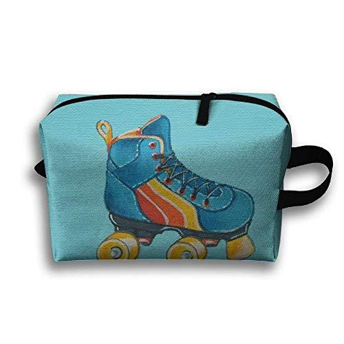 Rollschuh-Malerei-tragbare Reise-Make-uptasche, Aufbewahrungstasche-tragbare Damen-Reise-Quadrat-Kosmetiktasche
