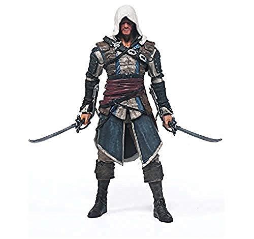 WXxiaowu Anime Figuren Action Figure Spielzeug Modell Assassins Creed Black Flag McFarland Modell Modellierung Szene Ornamente Souvenir/Collectibles-Edward_Kenvi