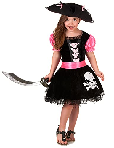 DEGUISE TOI Déguisement Pirate Girly Fille - S 4-6 Ans (110-120 cm)