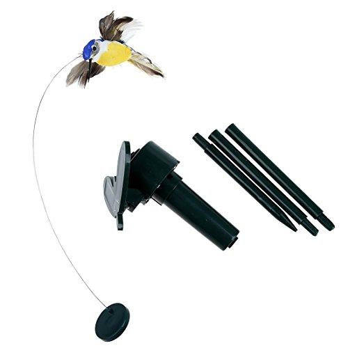 SODIAL Juguete de pajaros de colibri de volar alimentado por energia solar color al azar