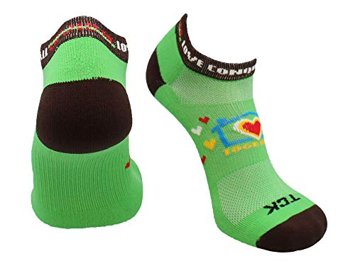 TCK Love Conquers All Low Cut Socks (Lime Green, Medium)