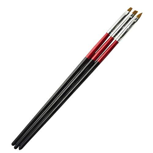 Pinsel-Set für Gelnägel - Profi Acrylpinsel - Pinsel für Acyrl Nägel - Brush für Gelnägel - Gelpinsel für nails - Werkzeug für Nageldesign ohne Echthaar- Nailbrush Gel