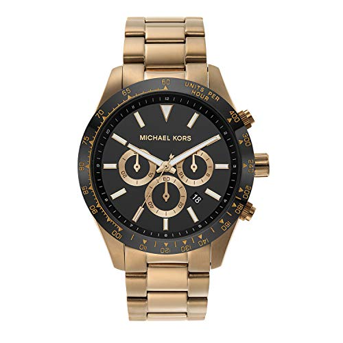 Michael Kors Men's Quartz Watch with Stainless Steel Strap, Gold, 22 (Model: MK8783)
