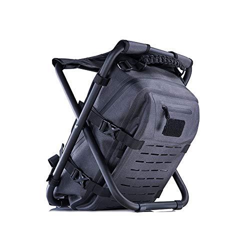 HYRL Sac à Dos de Sports de Plein air avec tabourets, Chaise Portable Multifonction pour Sac à Dos de Sport de pêche avec Chaise intégrée
