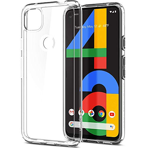 Spigen Ultra Hybrid Kompatibel mit Google Pixel 4a Hülle, Transparent Durchsichtige PC Rückschale mit Silikon Bumper Handyhülle Hülle Crystal Clear ACS01012