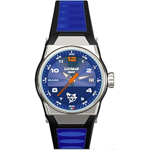 Locman - Reloj de hombre con diseño de playa azul