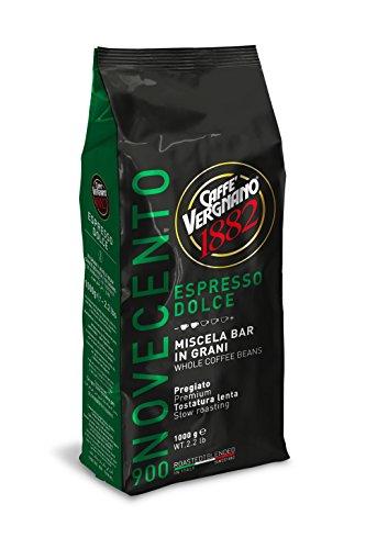 Vergnano Dolce 900, Espresso ganze Bohne, süß-fruchtiges Aroma, 1000 g