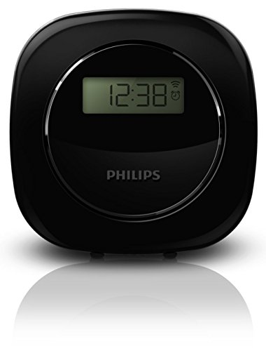 Philips Reloj - Despertador (Negro, LCD, 4 dígitos, Blanco, AAA, 82 mm)