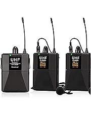 Lopbinte UHF Micrófono Lavalier de doble canal para cámara SLR 65M Rango DSLR Entrevista - Canal dual