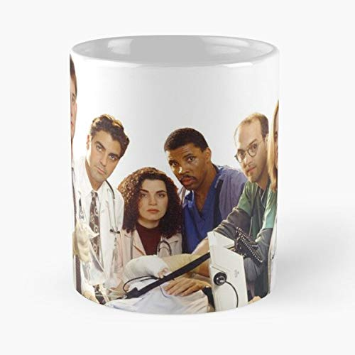 John Show Clooney Er George Emergency Room Wyle Carter NBC Noah Tv Best 11 oz Kaffeebecher - Nespresso Tassen Kaffee Motive