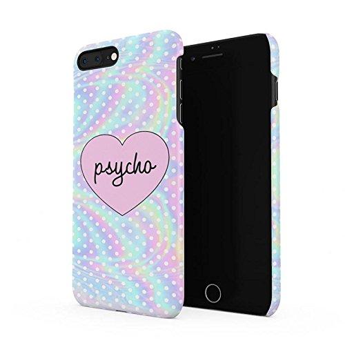 Psycho Heart Tye Dye Rainbow Polka Dots Pattern Hard Plastic Phone Case for iPhone 7 Plus & iPhone 8 Plus