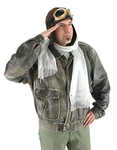 elope Aviator Costume Kit Brown Hat, Goggles, Scarf for Adults