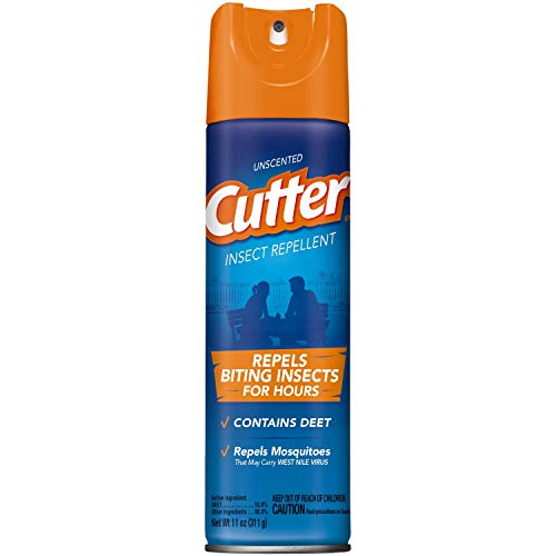 Cutter Unscented Insect Repellent, Aerosol, 11-Ounce